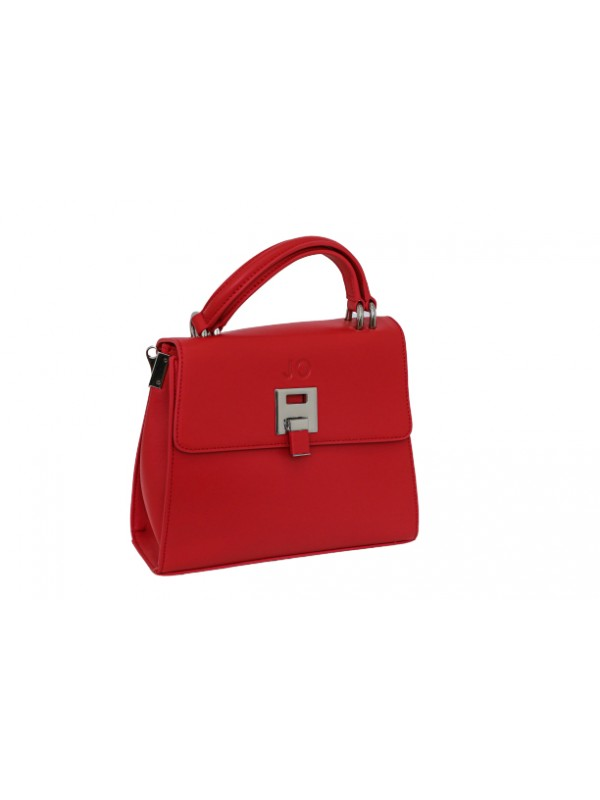JO Red Women Genuine Leather Cute Shoulder Bag wit...